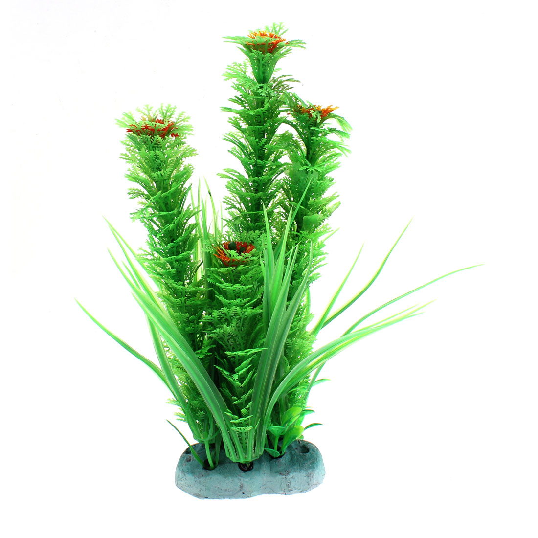 Aquarium Plastic Artificial Water Flowers Plant 25cm Height