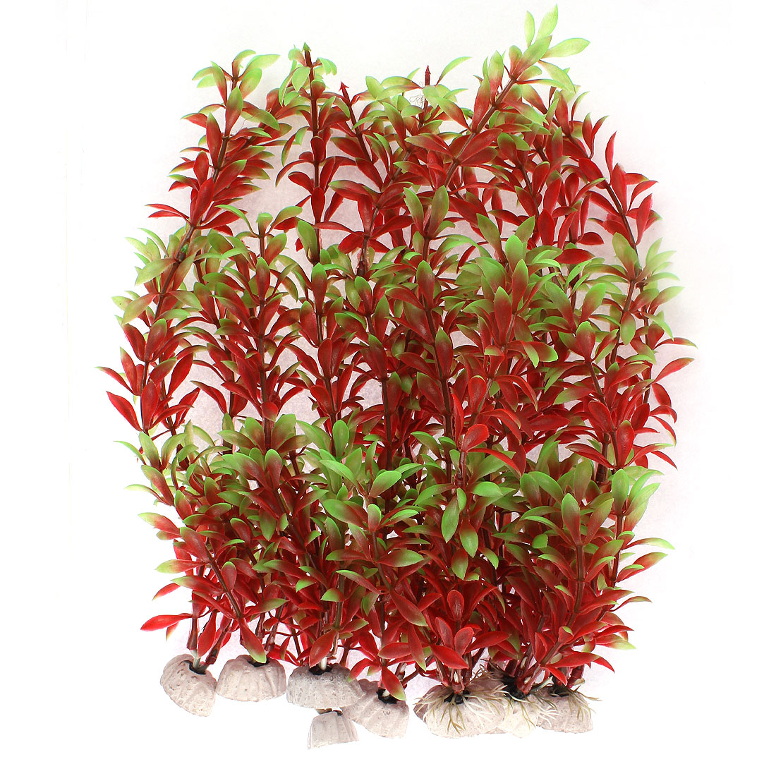 Aquarium Plastic Artificial Underwater Plants Grass Landscaping Decor 10pcs