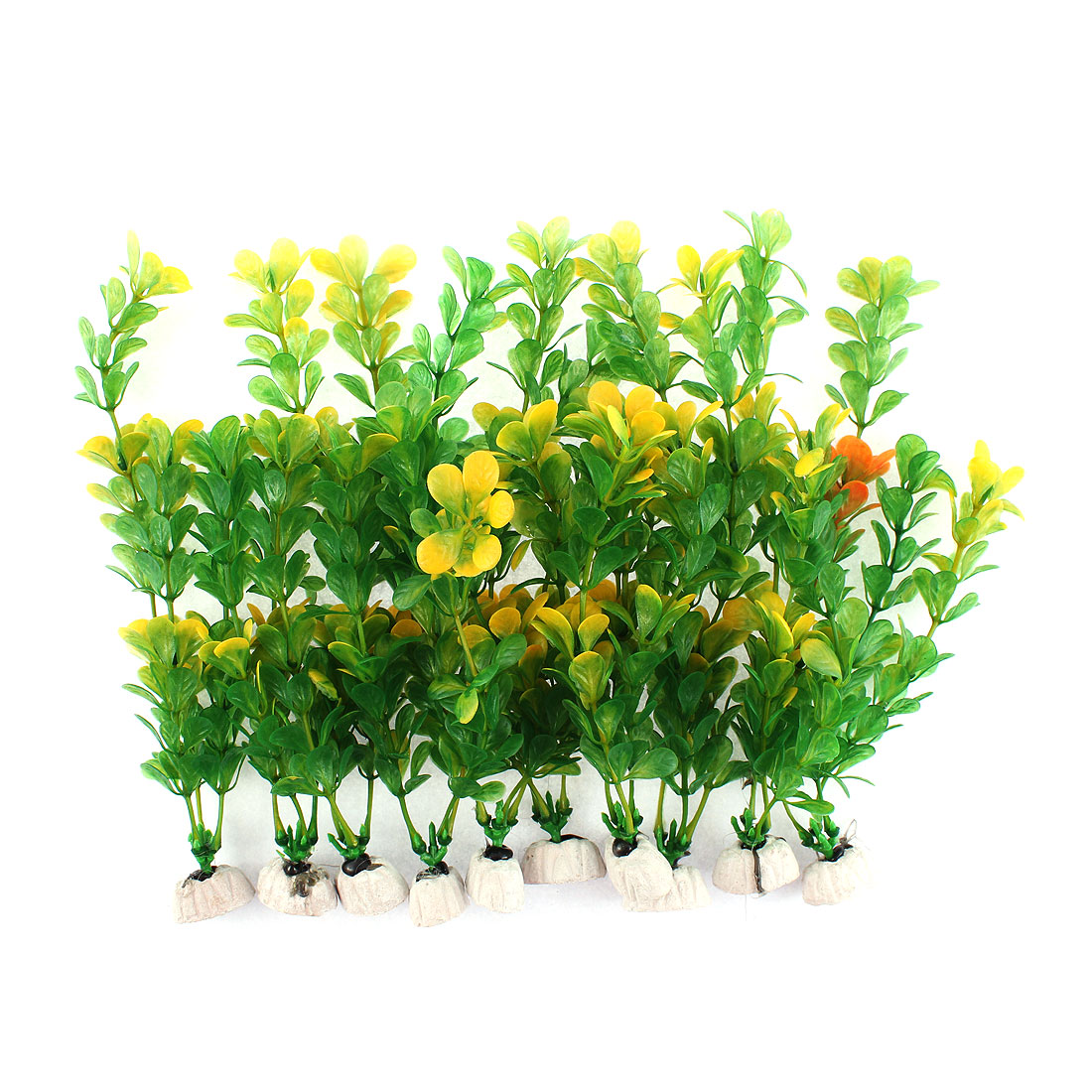 Fish Tank Aquarium Plastic Emulational Water Plant Grass Decor 10 Pcs