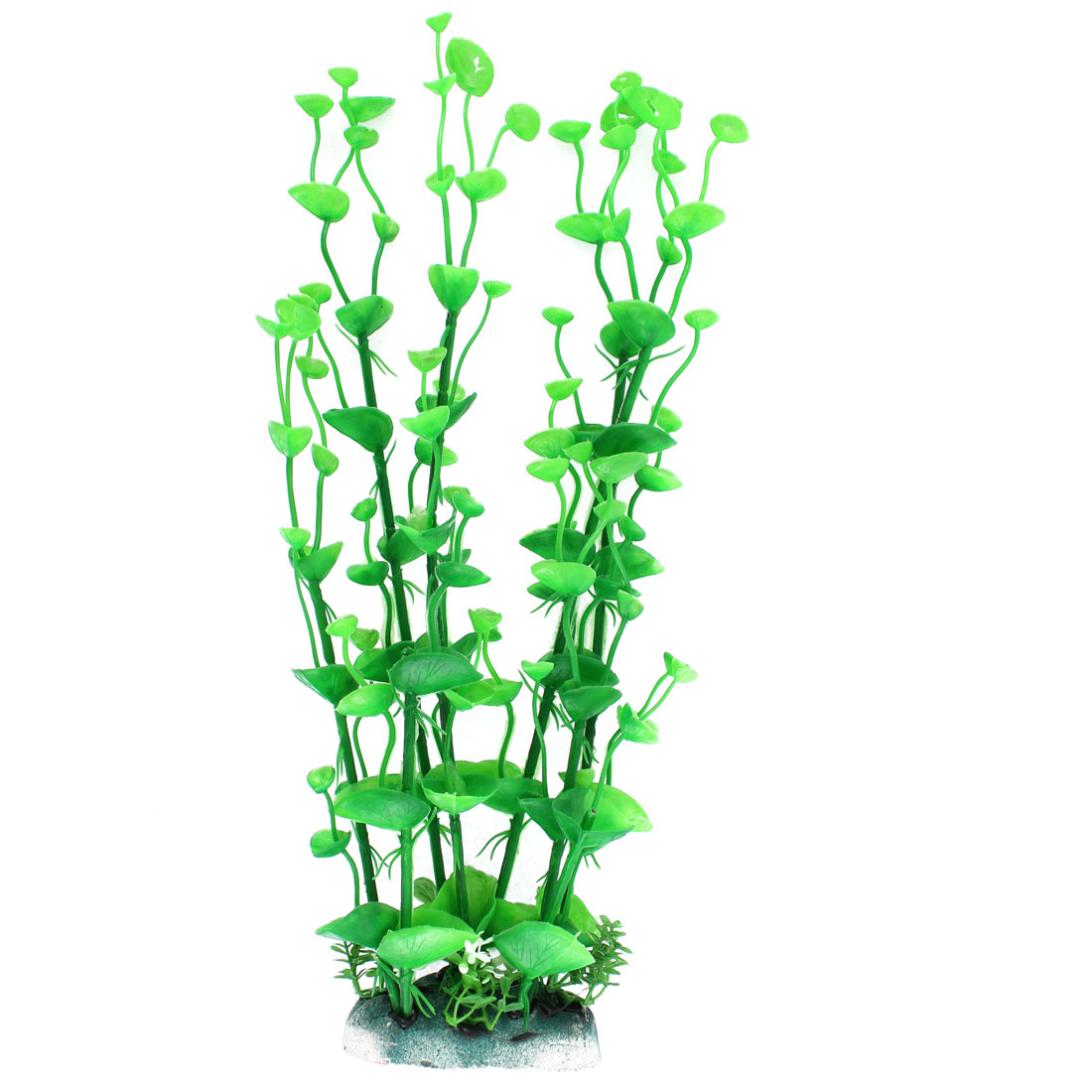 Aquarium Plastic Artificial Water Plant Grass Embellishment Green 34cm Height
