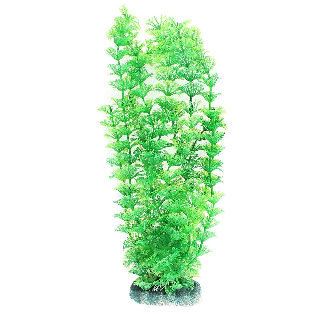 Aquarium Plastic Artificial Underwater Plant Grass Landscaping Decor 33 x 12cm