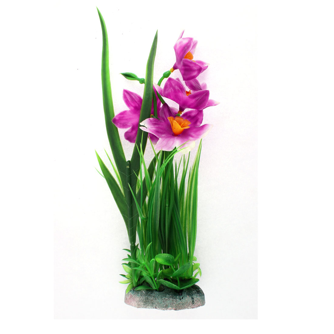 Aquarium Fishbowl Simulation Landscape Plant Flower Grass Decor Green