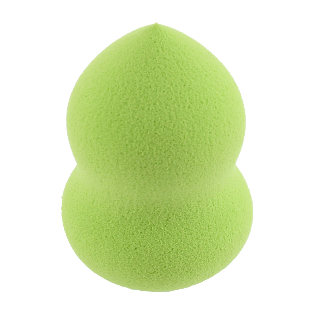 Gourd Shaped Cosmetic Makeup Facial Powder Sponge Puff Pad Fluorescent Yellow