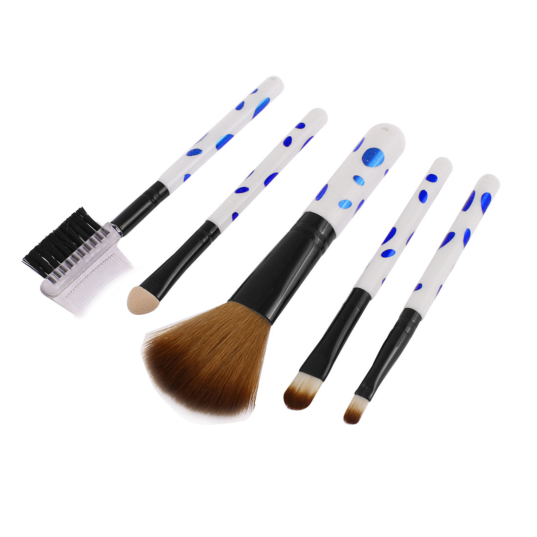 Woman Makeup Powder Brow Comb Eyeshadow Applicator Lip Blush Brush 5 in 1