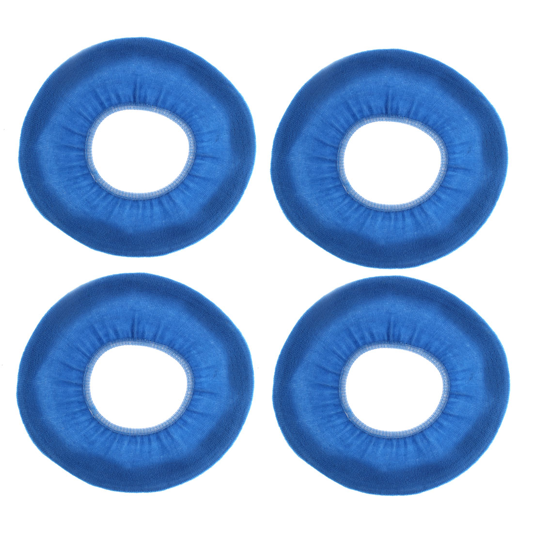 Bathroom Fleece Warmer Closestool Toilet Seat Lid Cover Pad Mat Blue 4pcs