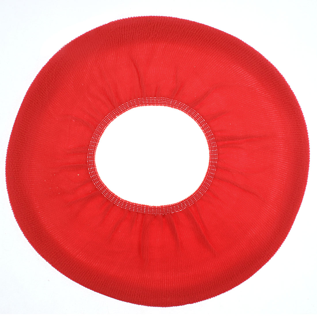 Home Bathroom Fleece Warmer Toilet Seat Lid Cover Cloth Mat Cushion Red