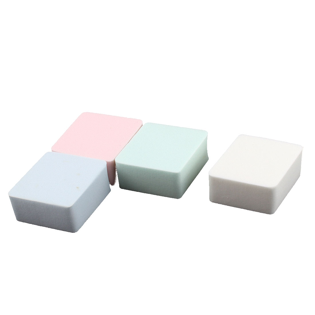 Rhombus Design Face Cleansing Washing Sponge Cleaner Cosmetic Powder Puff 4pcs