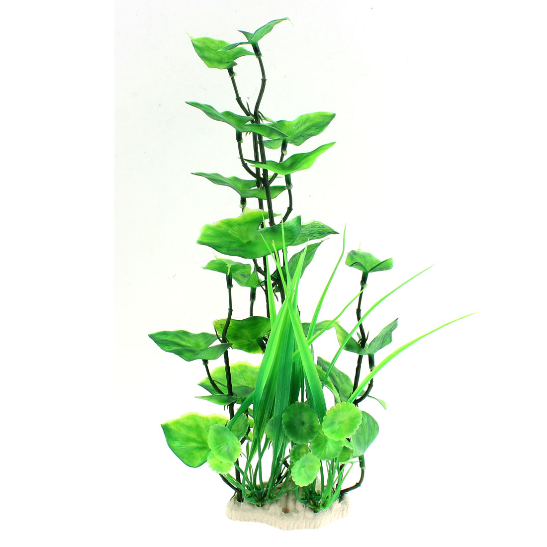 Aquarium Plastic Artificial Landscaping Plant Adornment Green 37 x 13cm