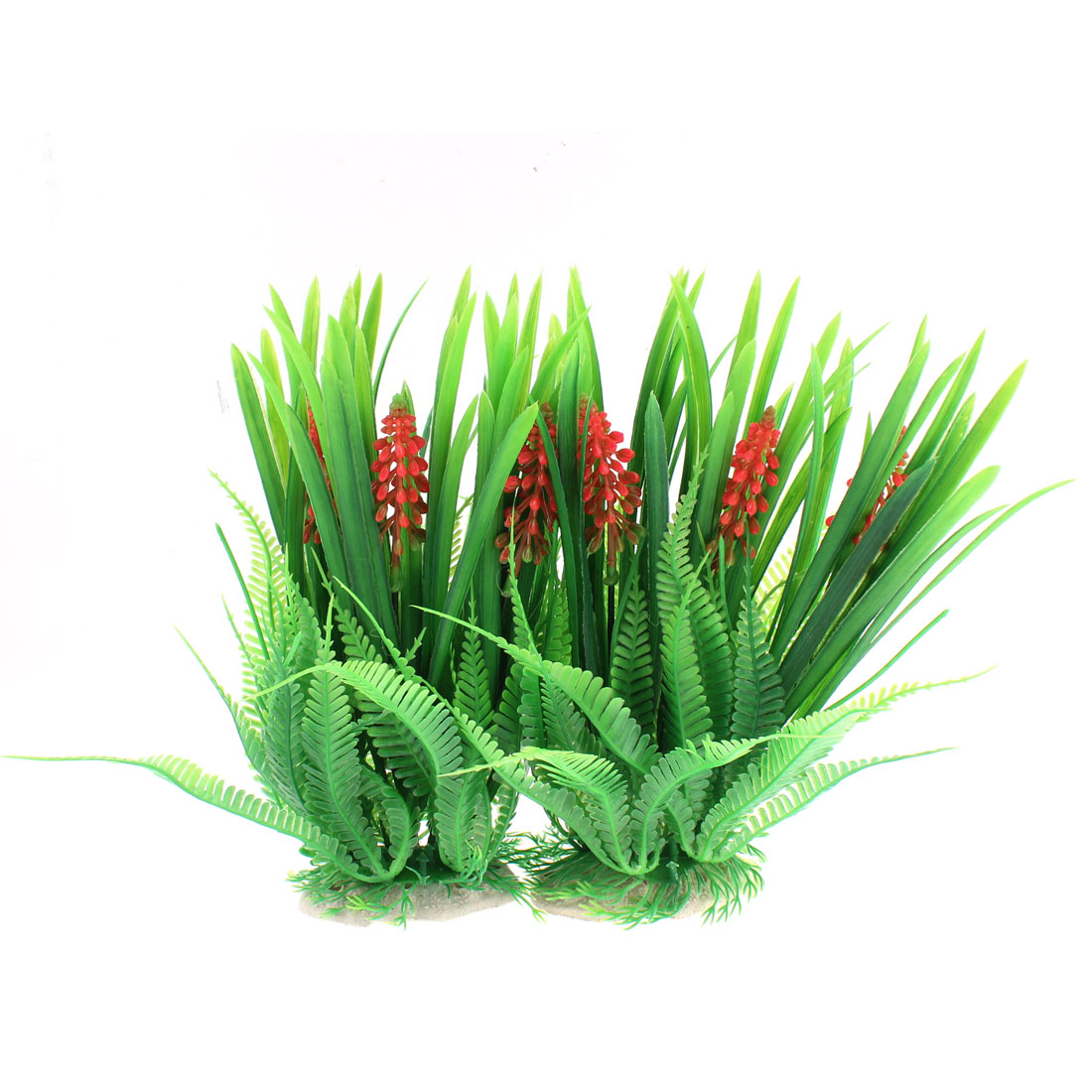 Aquarium Fish Tank Underwater Artificial Flower Spike Plant Decor 2PCS