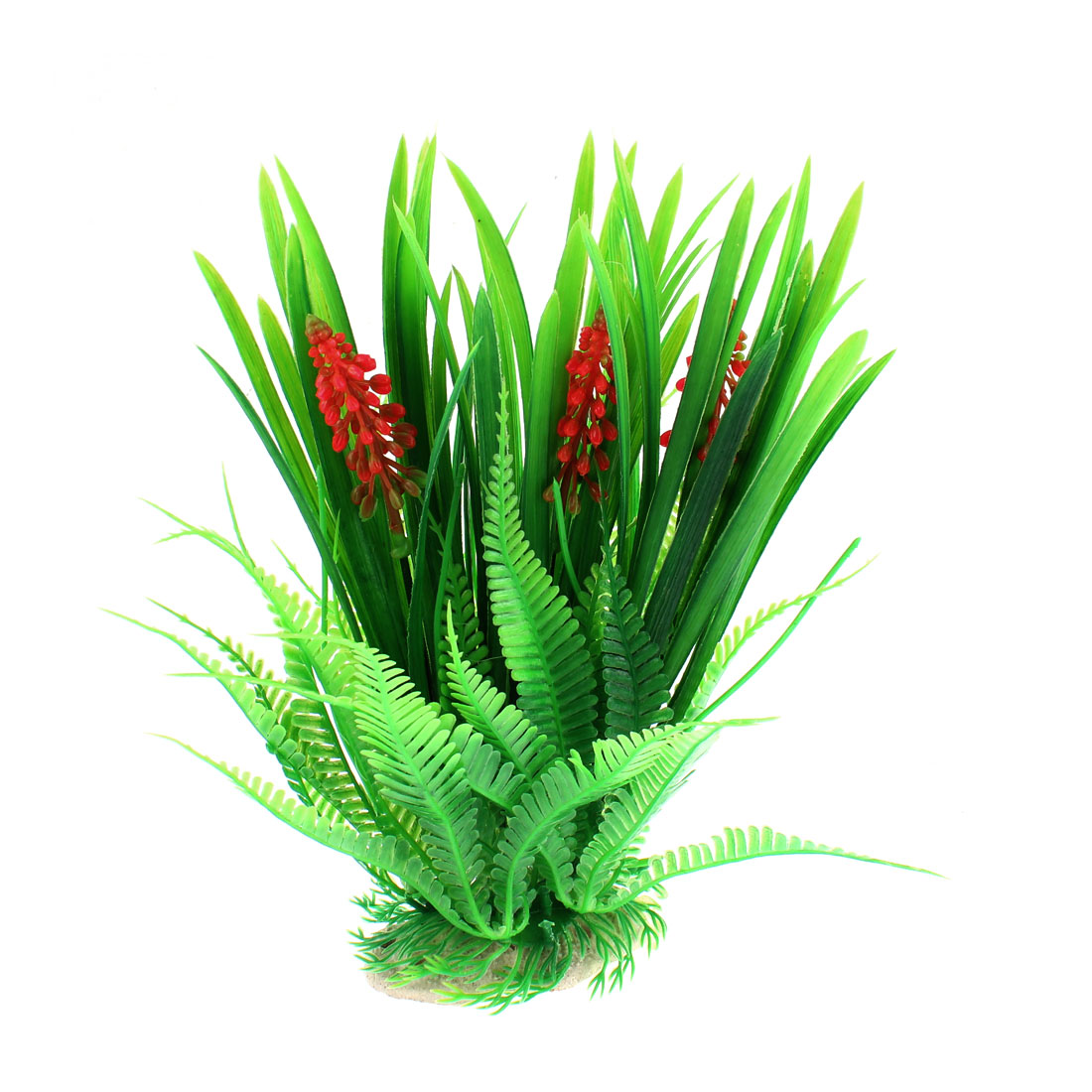 Aquarium Fish Tank Artificial Water Plant Grass Decoration Green 23.5cm Height