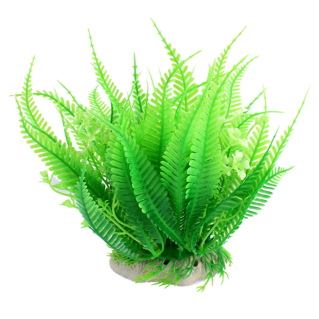 Aquarium Fishbowl Plastic Imitated Water Plant Grass Decoration Green