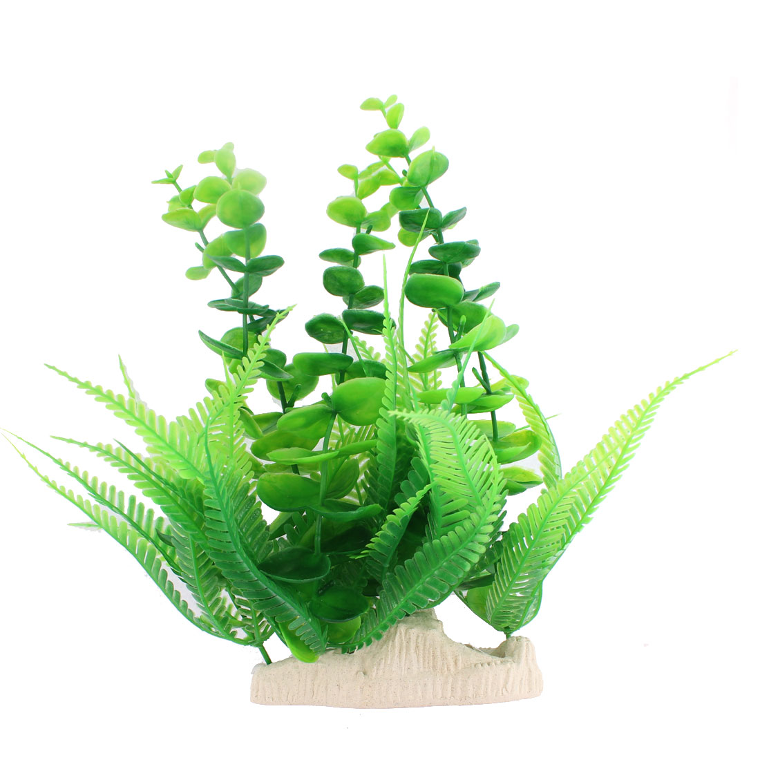 "Fish Tank Aquarium Plastic Artificial Plant Underwater Grass Decor 9"" Height"