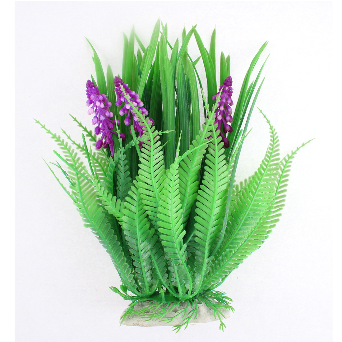 Aquarium Plastic Simulated Grass Plant Decor Green Purple