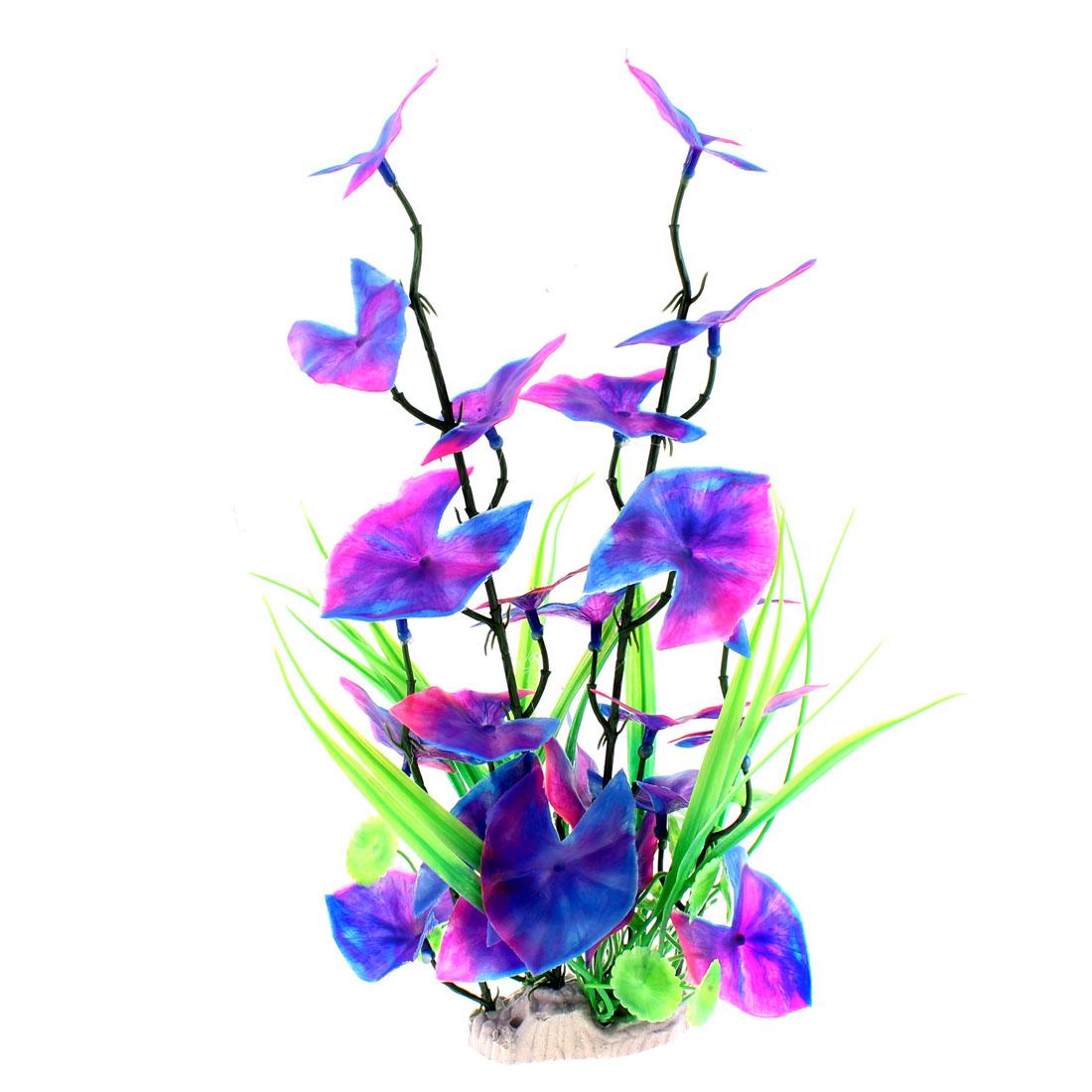 "Aquarium Plastic Landscaping Water Grass Plant Decoration 14"" Height"