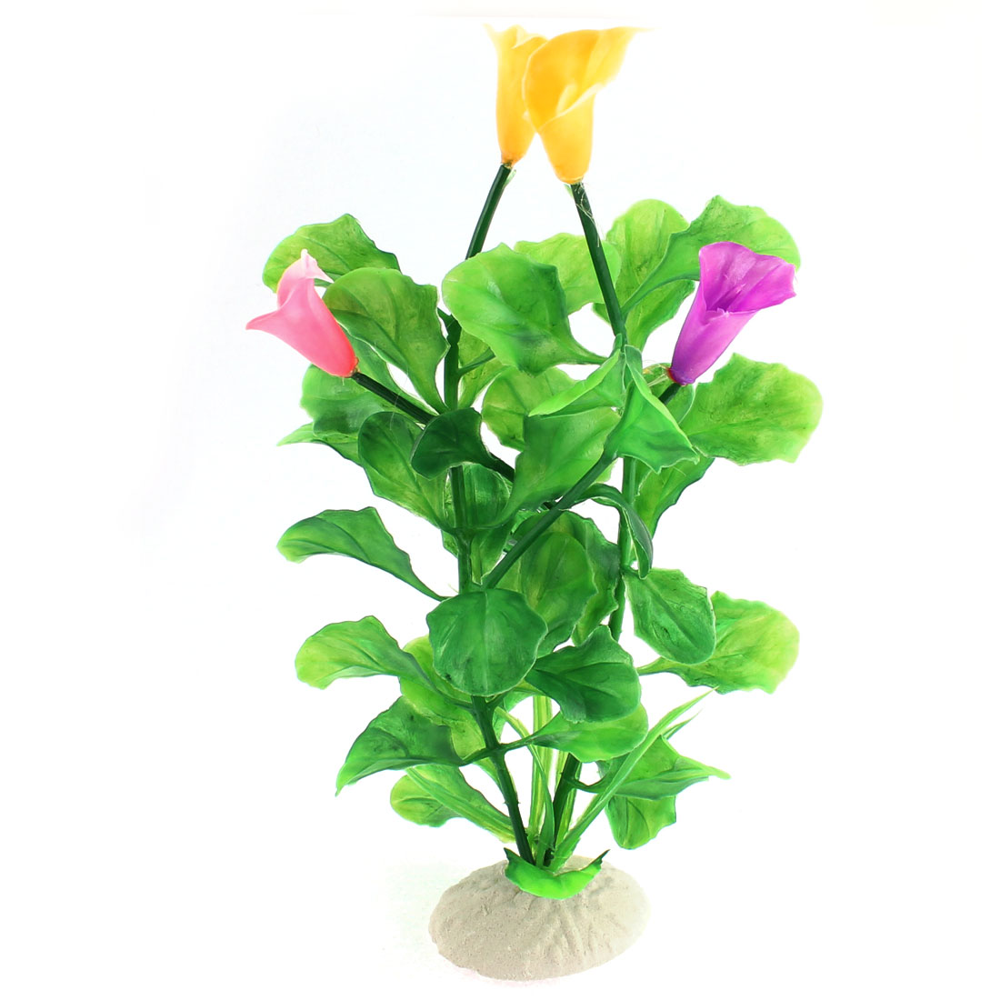 Artificial Plastic Underwater Plant Flower Grass for Fish Tank Aquarium