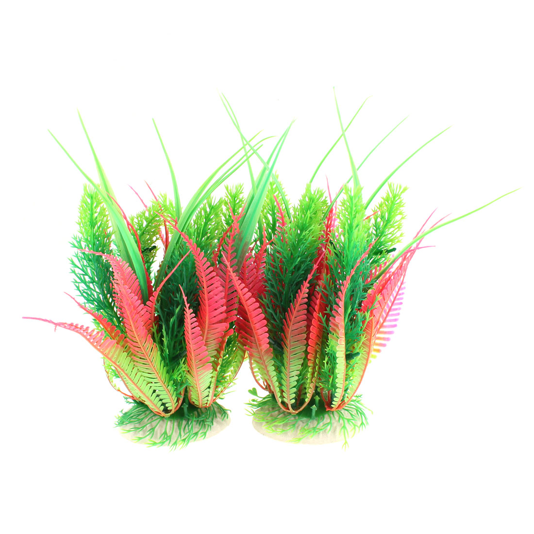 Aquarium Artificial Aquatic Grass Plant Decor 21cm High 2PCS