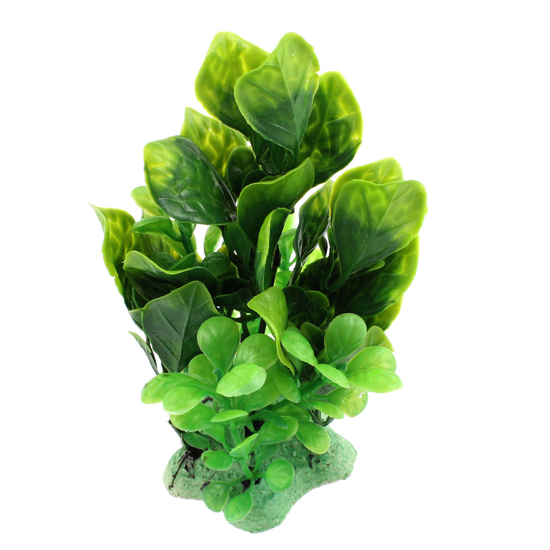 Aquarium Plastic Artificial Underwater Plant Ornament Decor Green 12cm High
