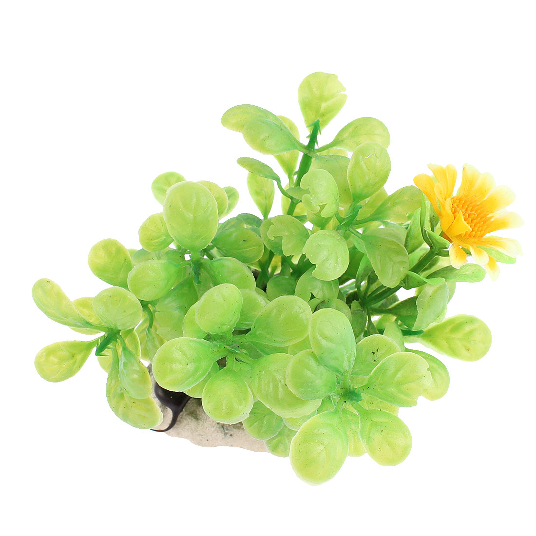 Aquarium Aquascaping Underwater Flower Plant Decoration Green Orange