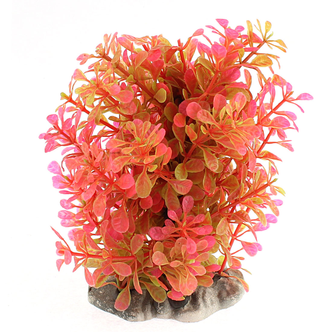 Aquarium Fishbowl Plastic Simulation Water Plant Grass Decoration Hot Pink