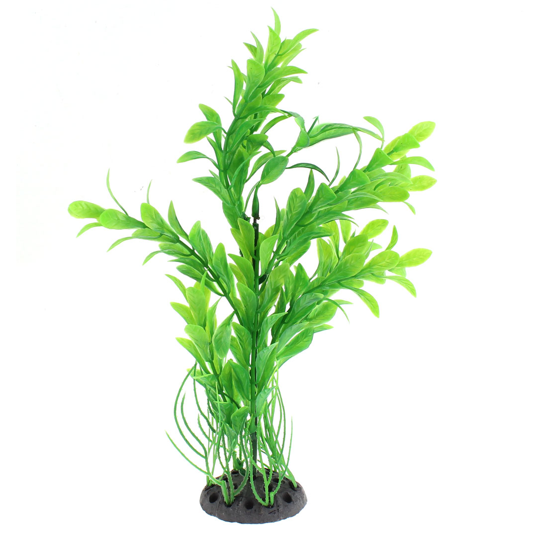 "Aquarium Ceramic Base Plastic Plant Ornament 10"" Height"