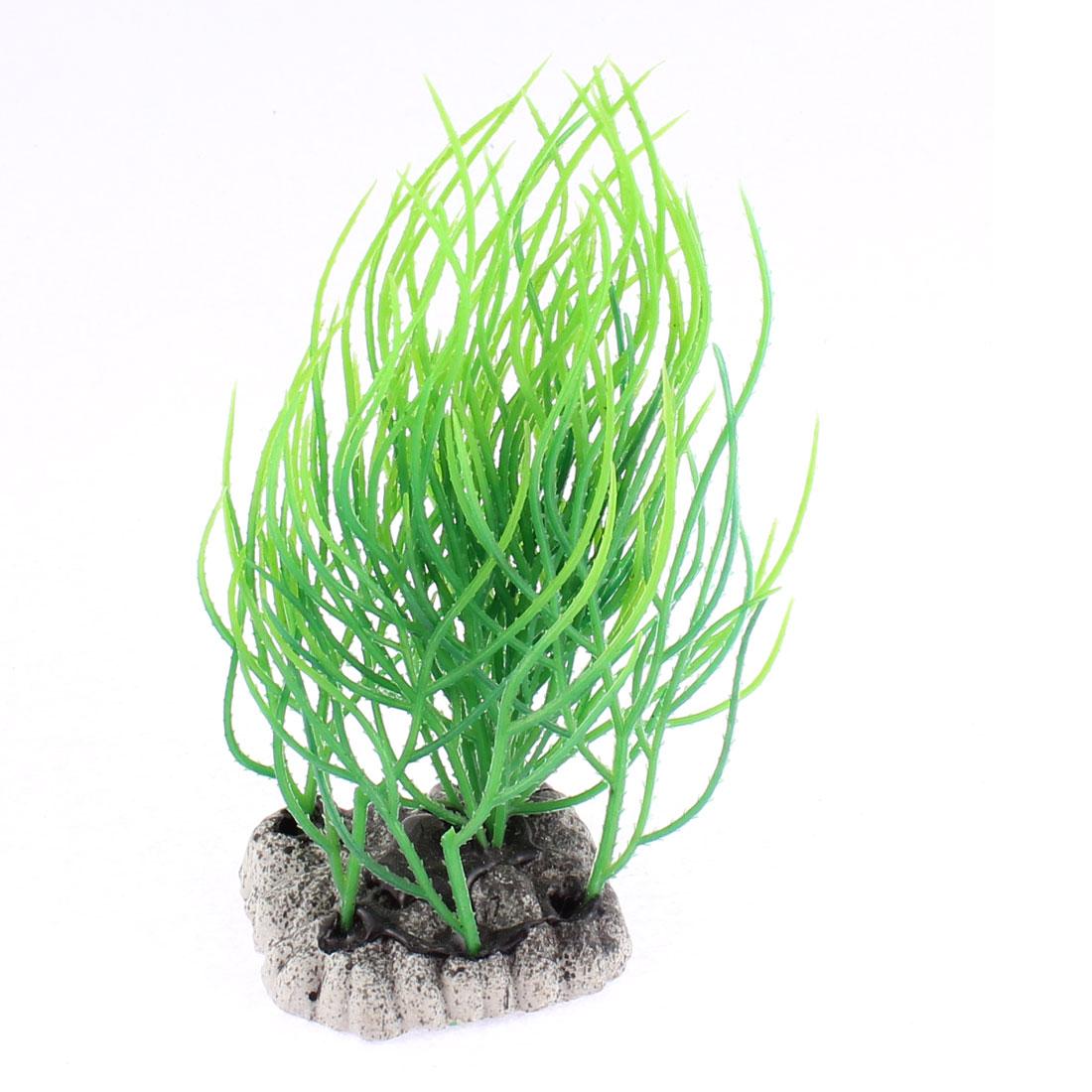Fish Tank Aquarium Plastic Artificial Plant Landscape Underwater Grass Ornament