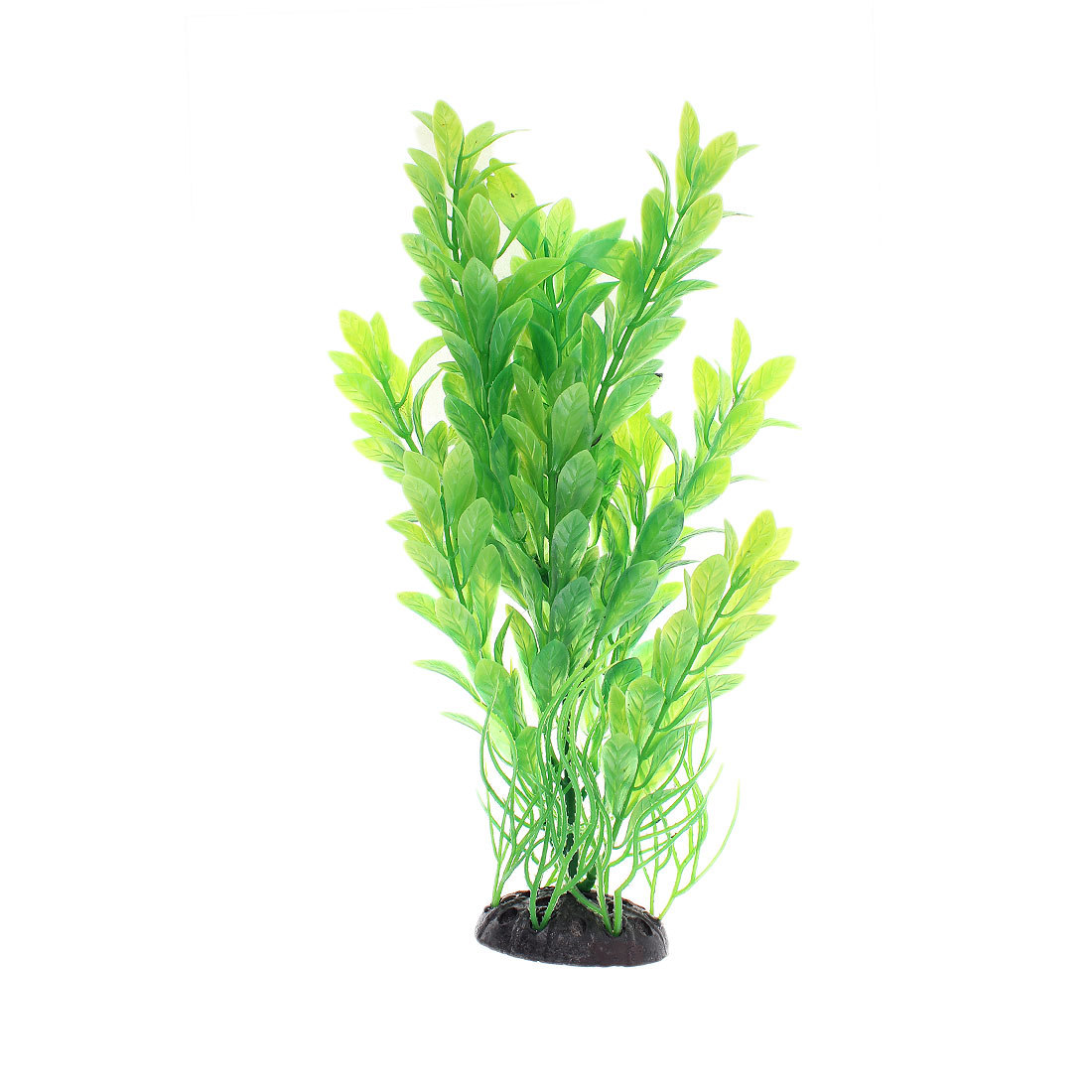 "Aquarium Plastic Artificial Plant Ornament Green 10"" Height"
