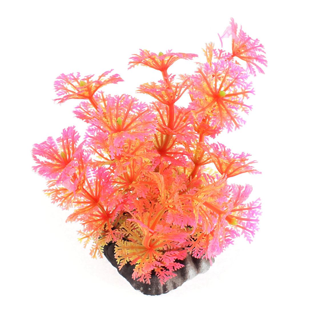 """Aquarium Plastic Artificial Aquatic Plant Ornament 4"""" High"""