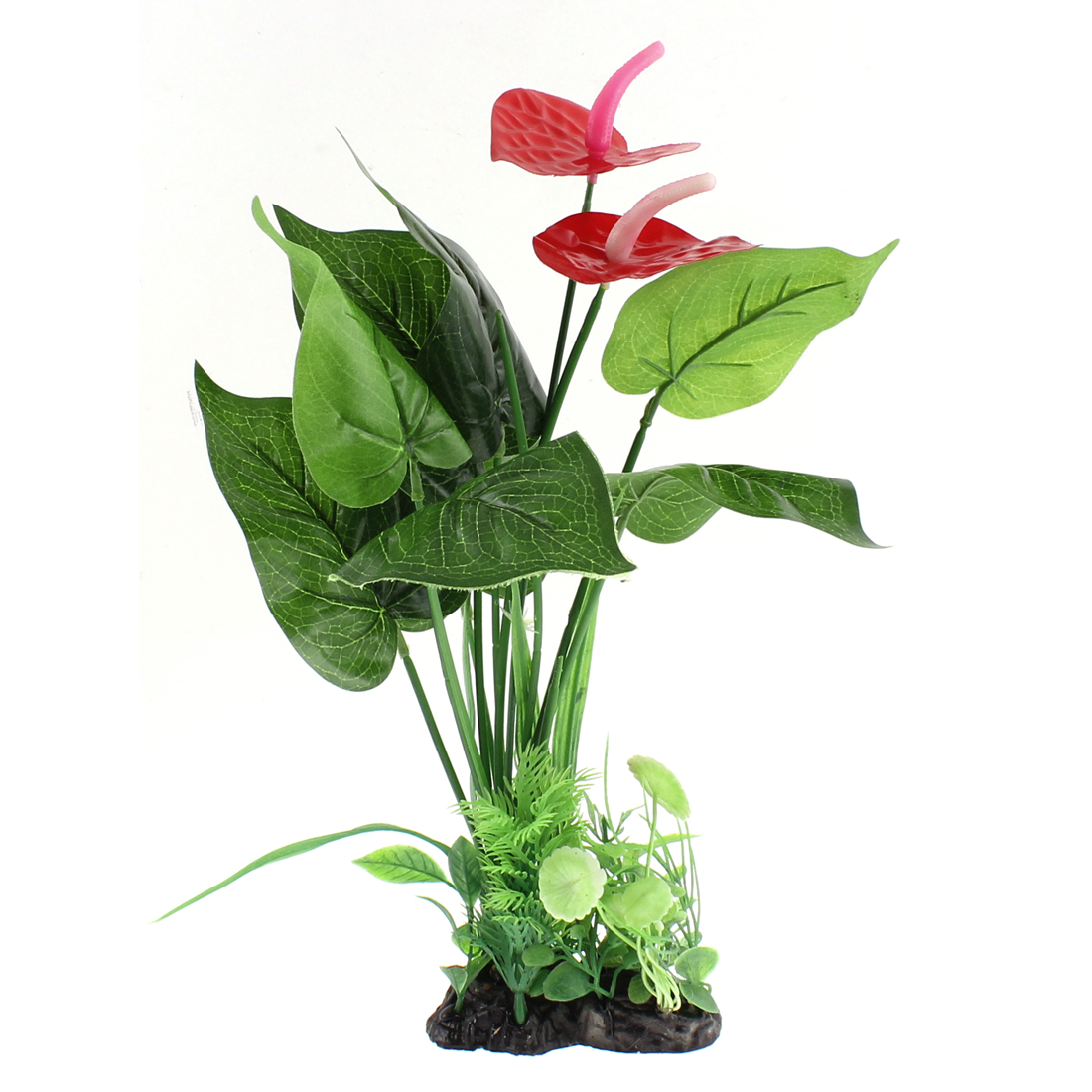 Aquarium Plastic Landscaping Plant Adornment 36cm Height
