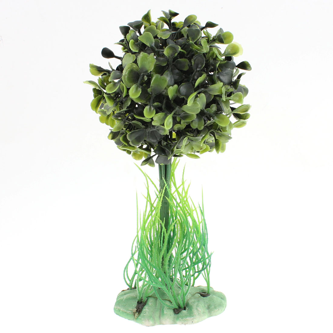 "Fish Tank Aquarium Emulational Tree Shaped Plant Decoration Green 8"" High"