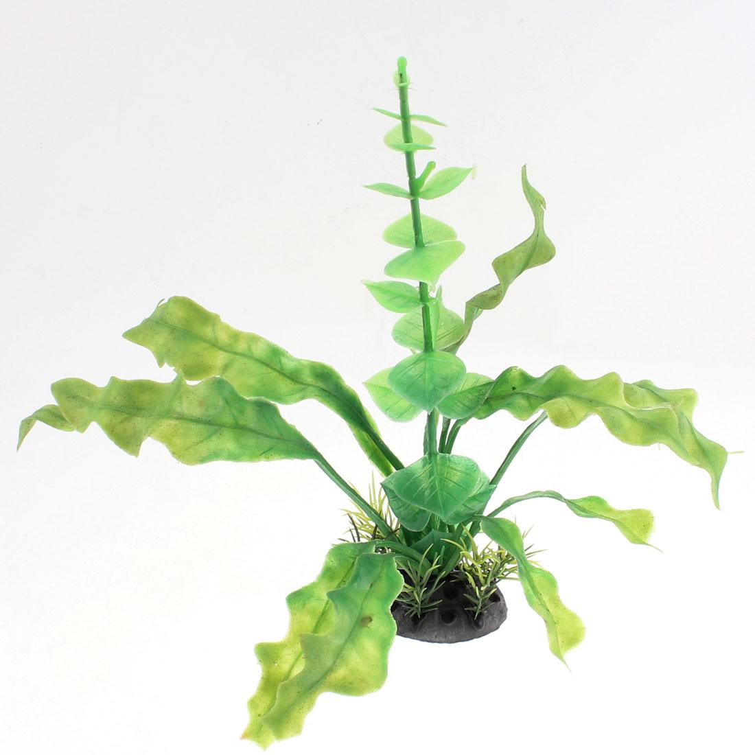 """Aquarium Fish Tank Artificial Plant Decoration Green 8"""" High"""