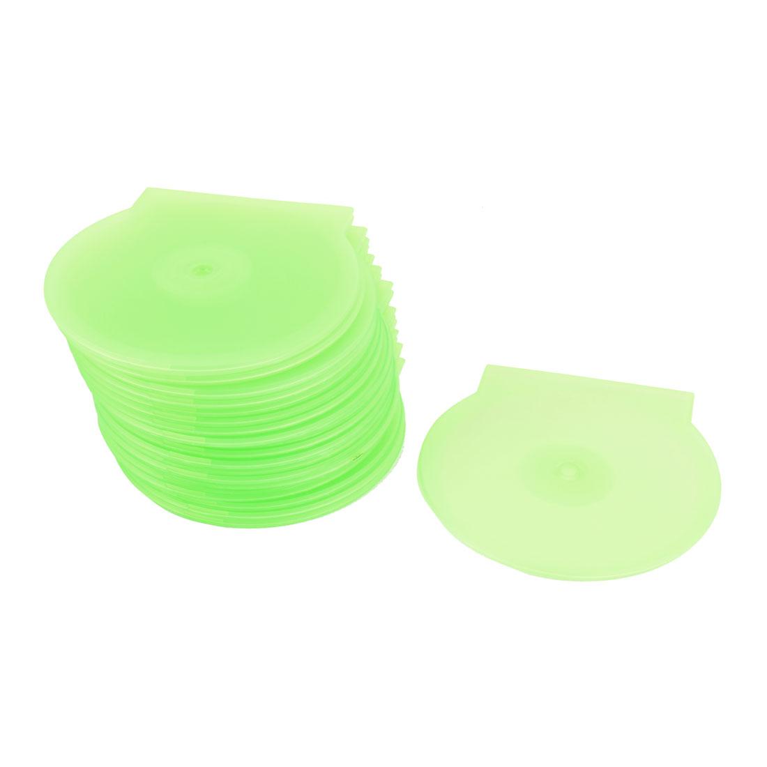 "Plastic DVD CD Box Storage Holder Green 4.8"" Dia 20pcs"