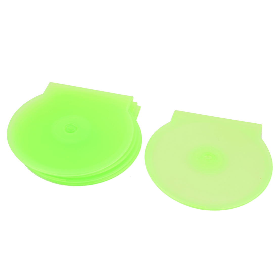 Plastic Disc CD DVD Storage Box Case Holder Green 5pcs
