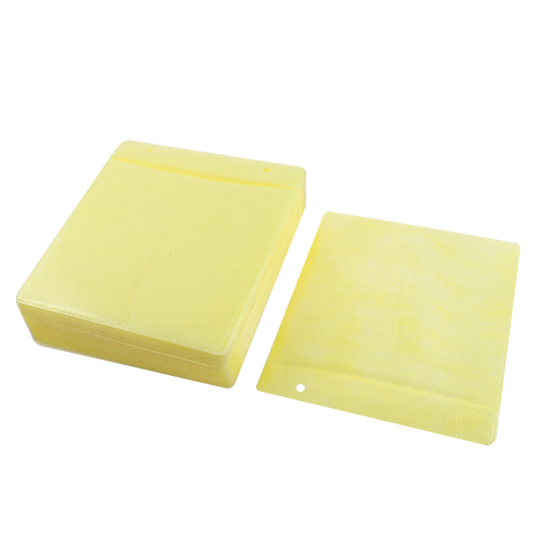 Disc CD DVD Double Sided Storage Sleeve Bags Yellow 100 PCS