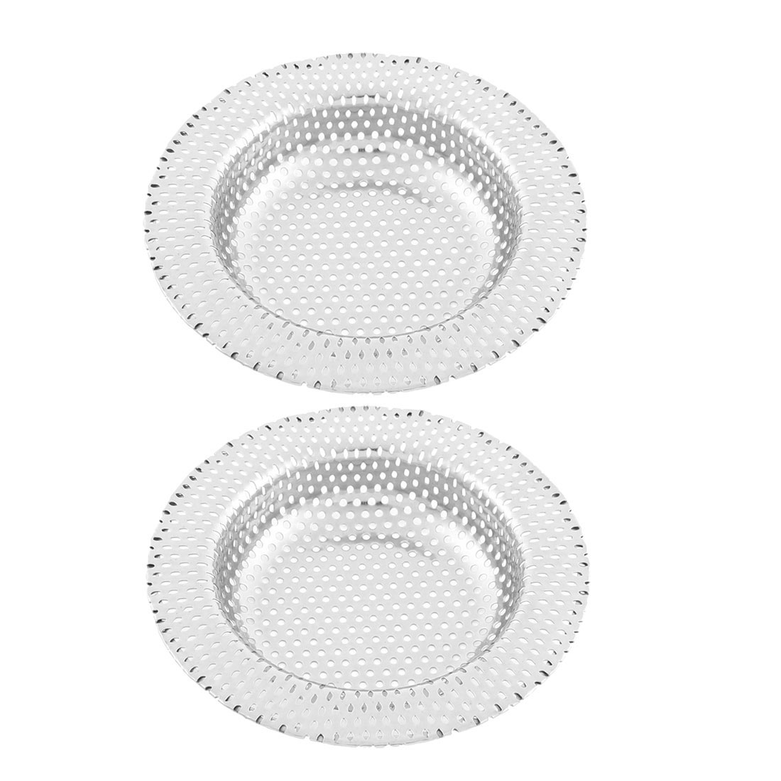 Kitchen Bathroom Basin Sink Floor Waste Strainer Filter Stopper 11cm Dia 2pcs