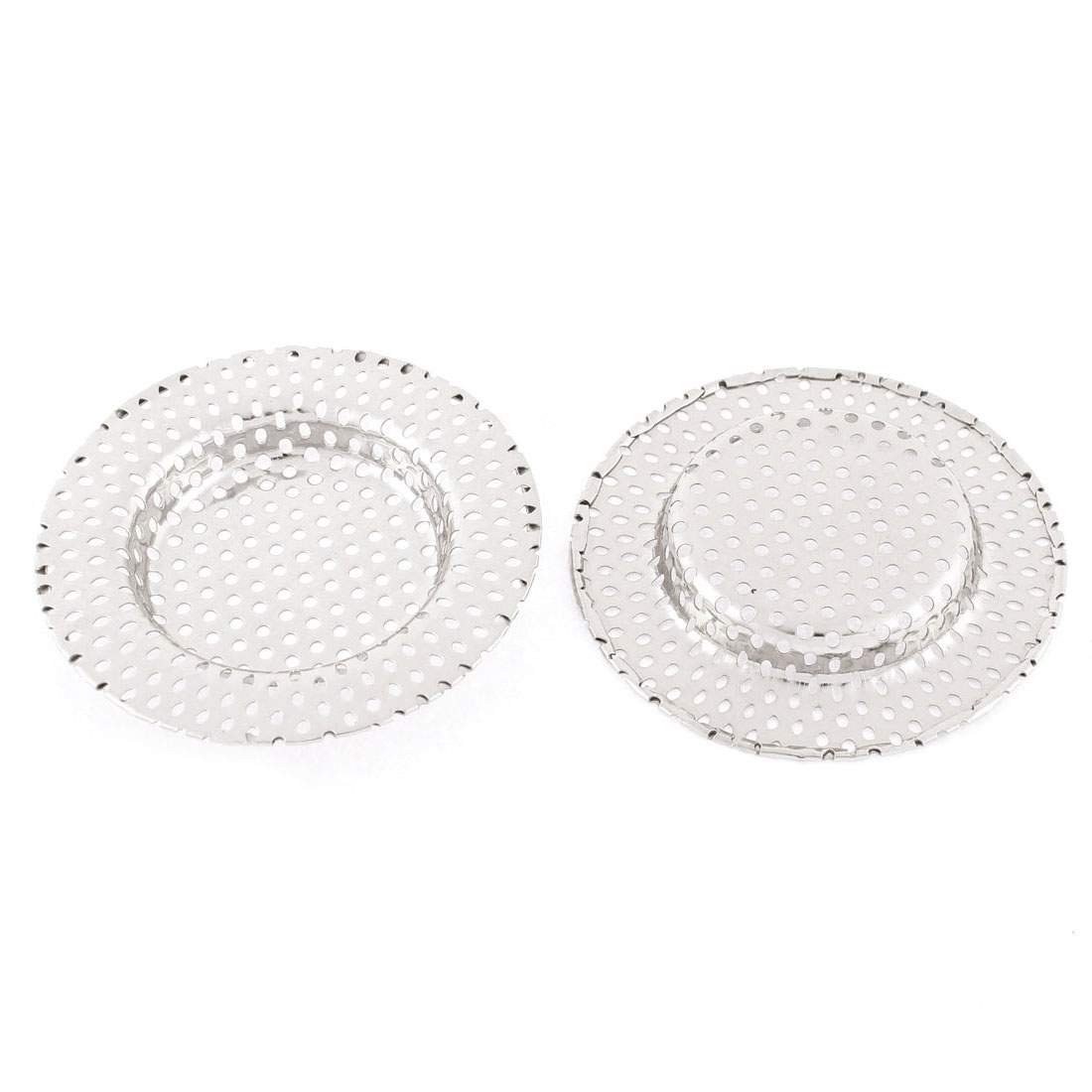 Kitchen Bathroom Stainless Steel Mesh Sink Basin Strainer 2pcs