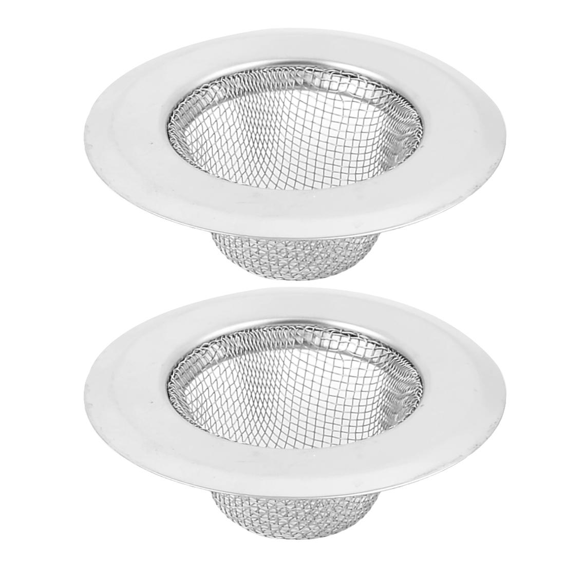 Kitchen Sink Bath Basin Mesh Drainer Strainer 7cm Dia 2pcs
