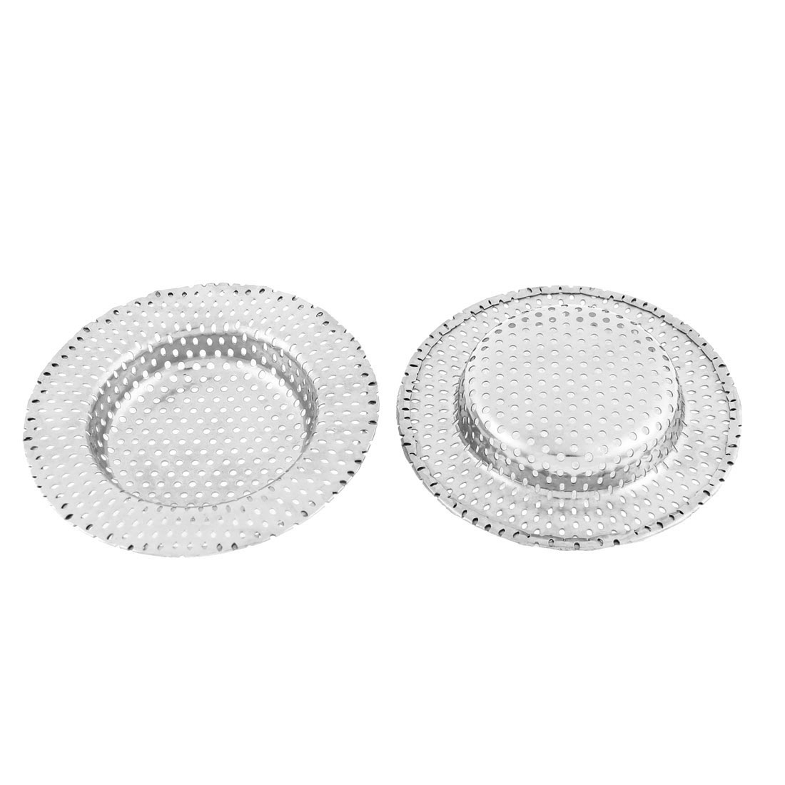 Bathroom Kitchen Sink Basin Drain Strainer Stopper 90mm Dia 2pcs
