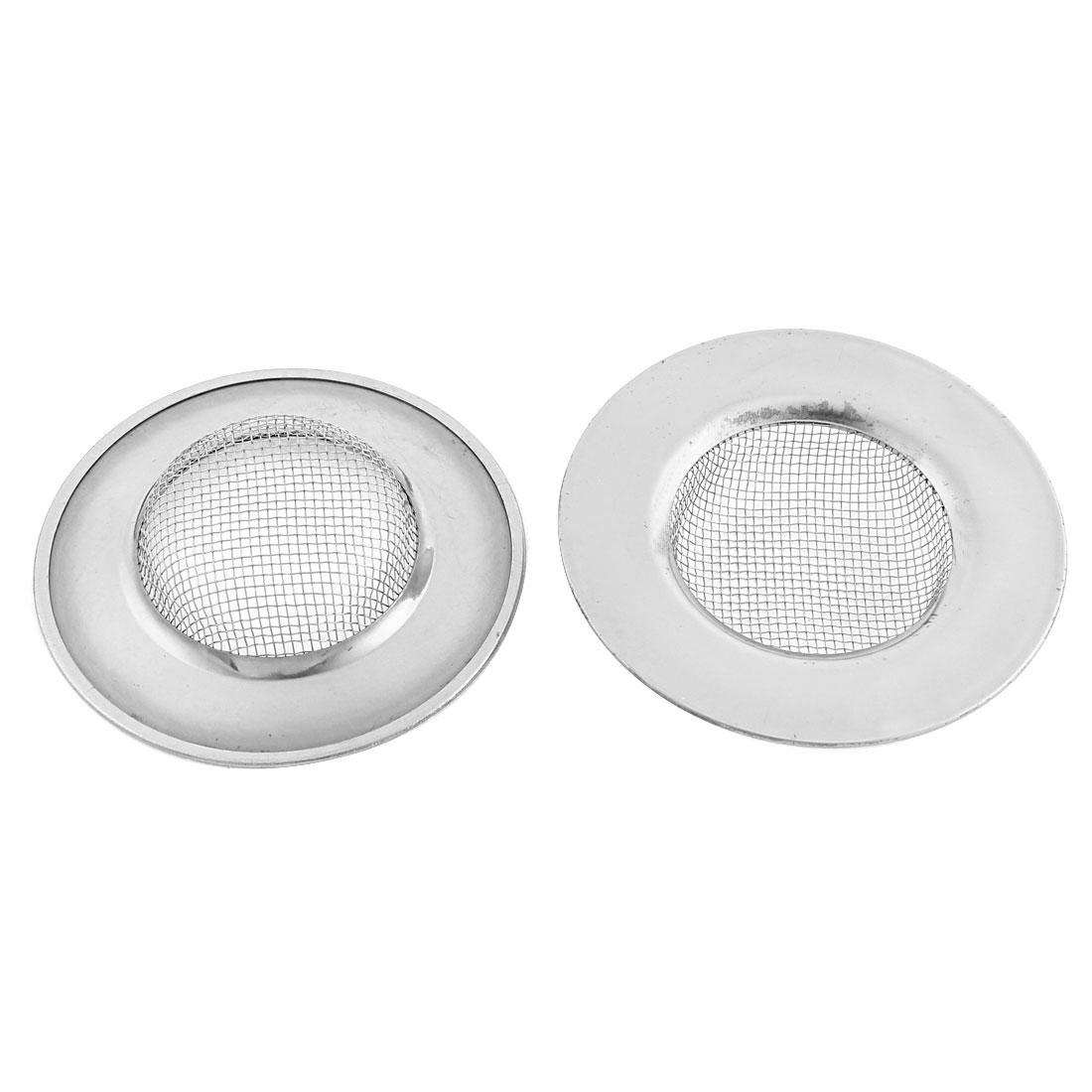 Kitchen Stainless Steel Sink Basin Waste Strainer Filter Drainer Stopper 2pcs