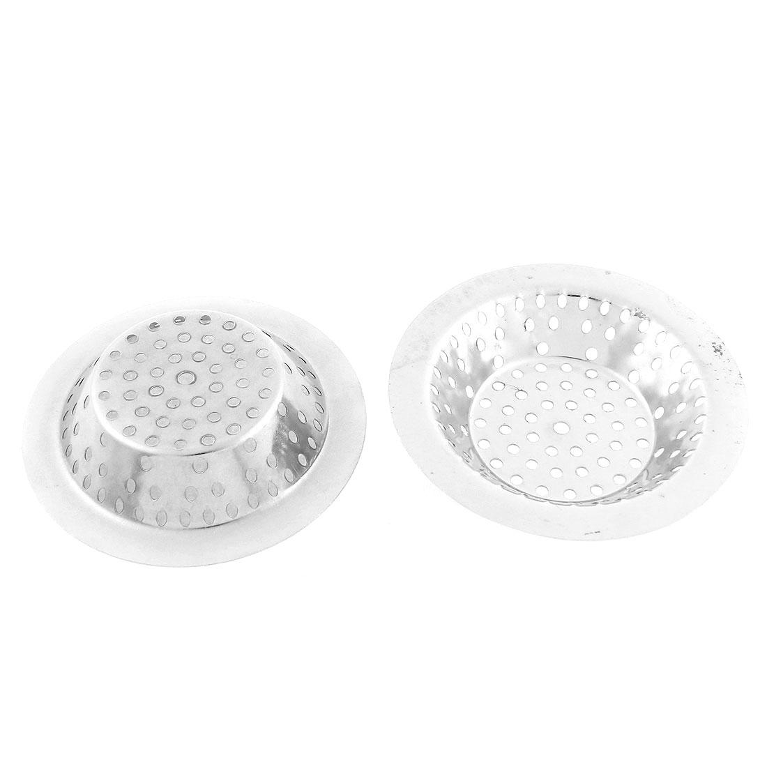 Household Stainless Steel Sink Strainer Drainer Filter Stopper 106mm Dia 2pcs