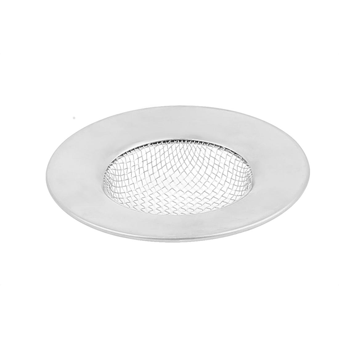 Kitchen Bath Basin Sink Strainer Drain Stopper Silver Tone 2.5 Inch Dia