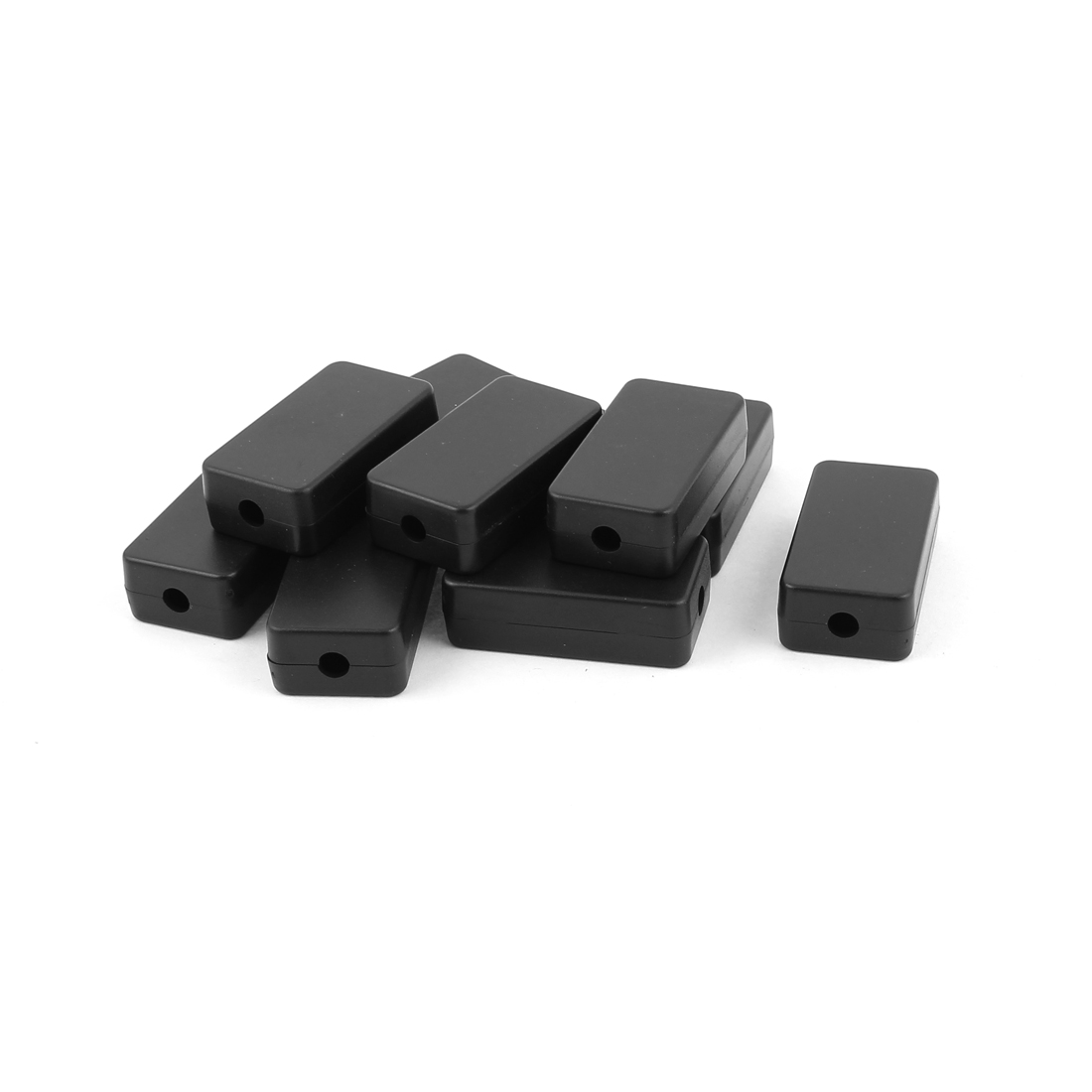 10 Pcs 48mm x 26mm x 15mm Rectangular Plastic Electric Case DIY Junction Box Black
