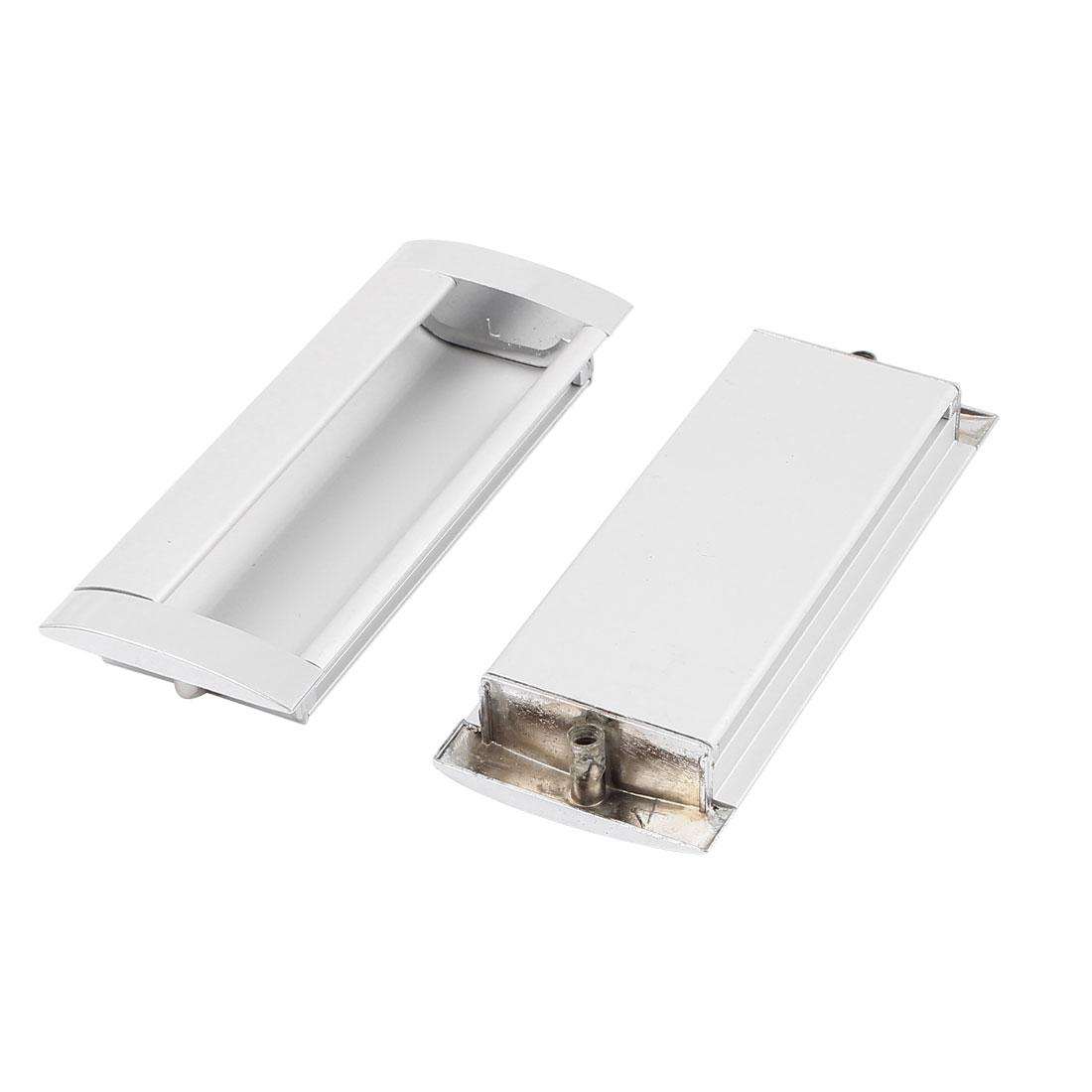 Door Windows Hardware Aluminium Pull Handle 96mm Hole Distance 2 Pcs