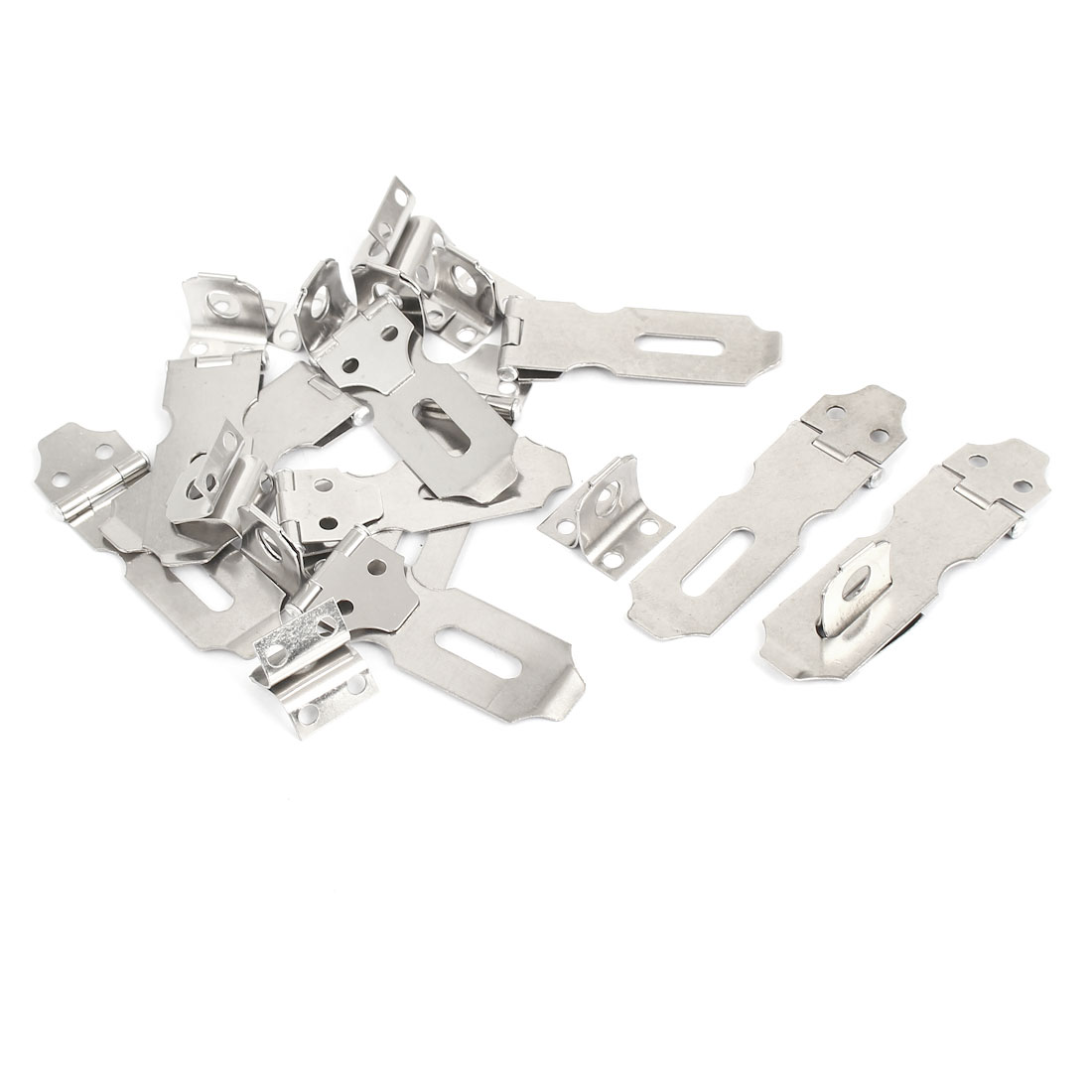 Home Drawer Safety Padlock Latch Stainless Steel Door Hasp Staple 10 Set