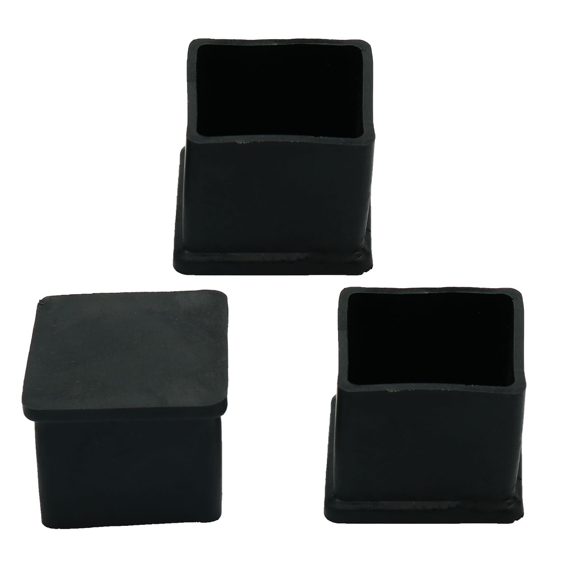 3 Pcs Furniture Chair Table Leg Rubber Foot Covers Protectors 30mm x 30mm