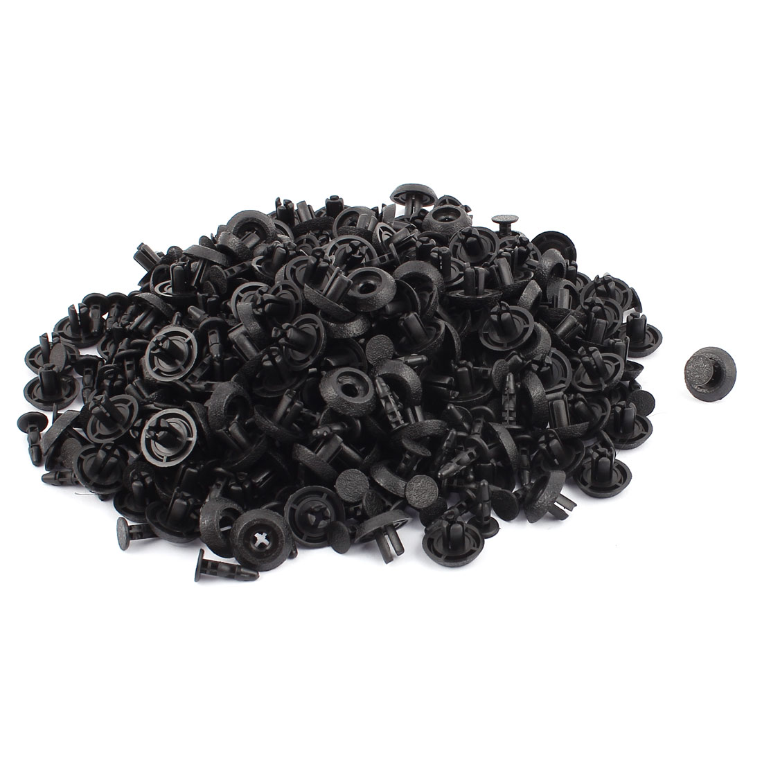 200 Pcs 8mm Hole Plastic Rivets Fastener Auto Car Fender Bumper Push Clips Black