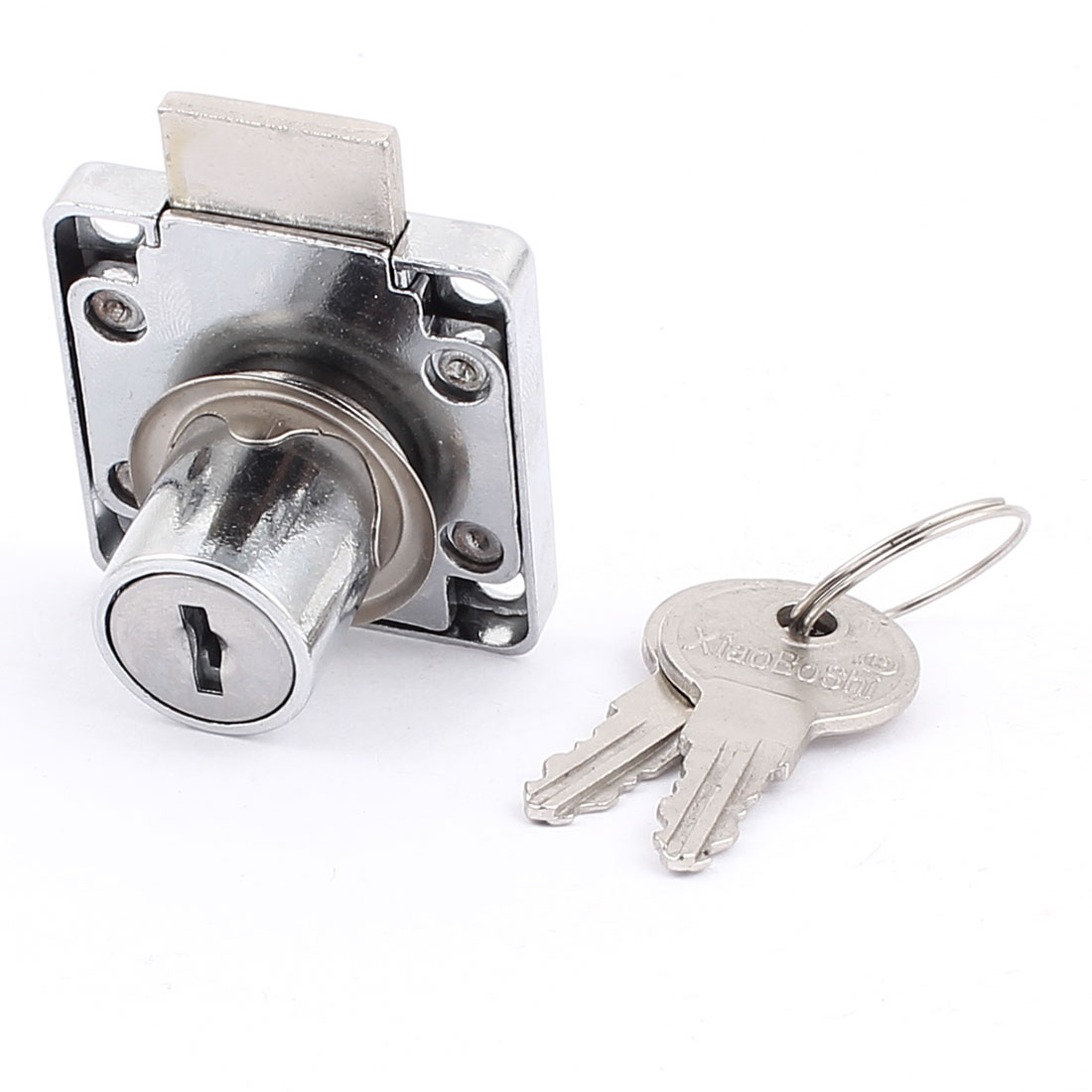 Home Desk Drawer Hardware Cabinet Security Lock 40mm x 39mm w Keys