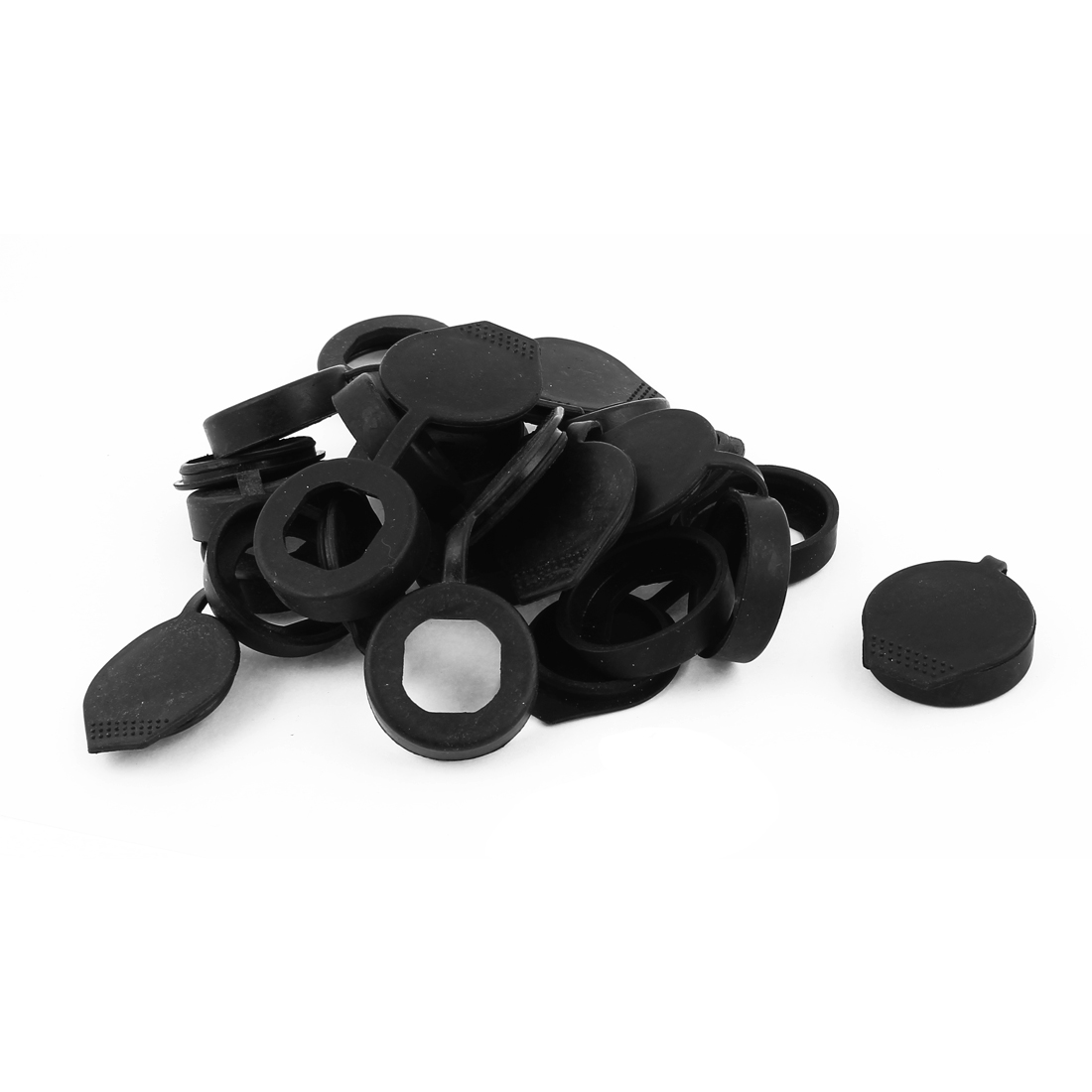 15 Pcs Rubber Key Panel Cam Lock Dust Waterproof Cover Black