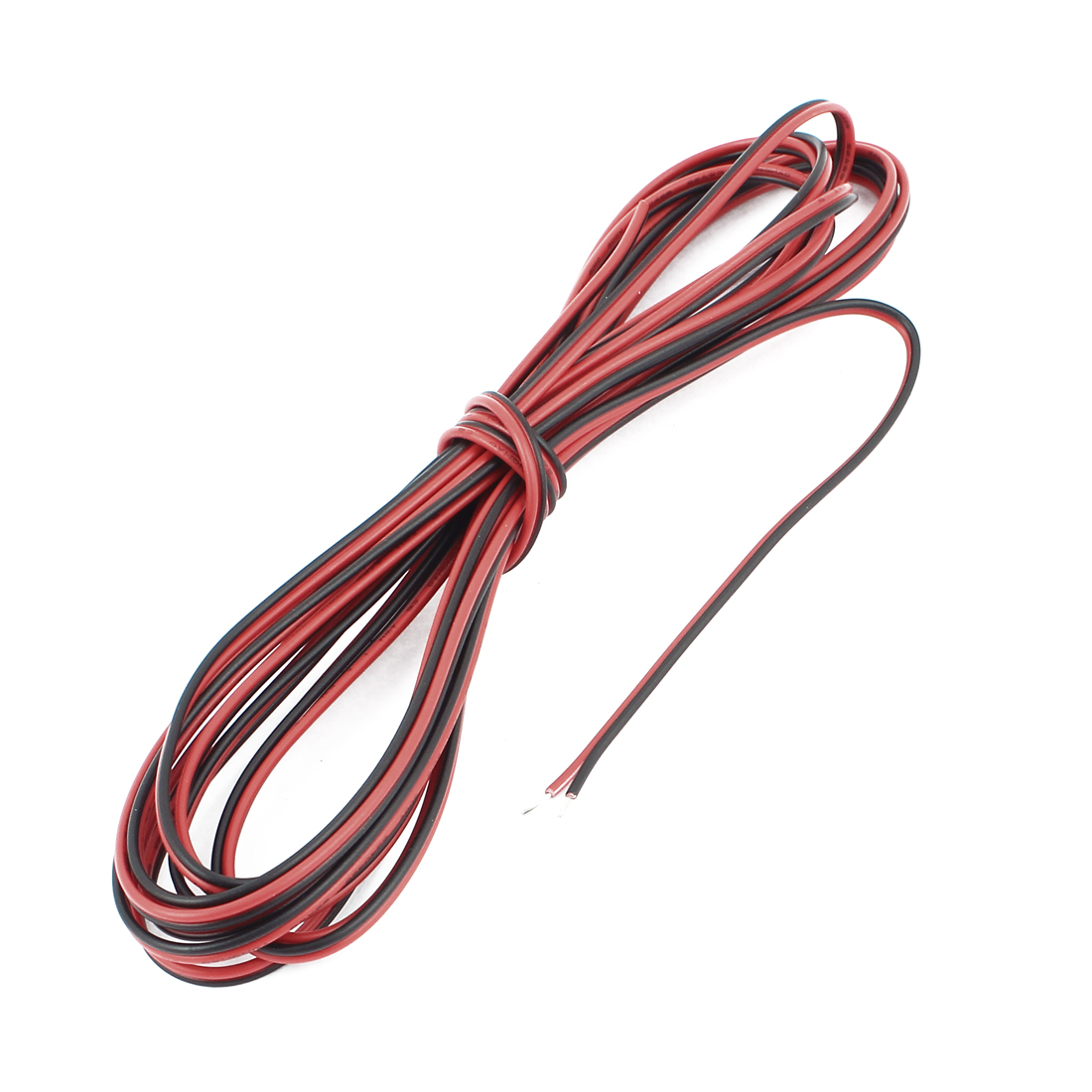 22AWG Indoor Outdoor PVC Insulated Electrical Wire Cable Black Red 4 Meters