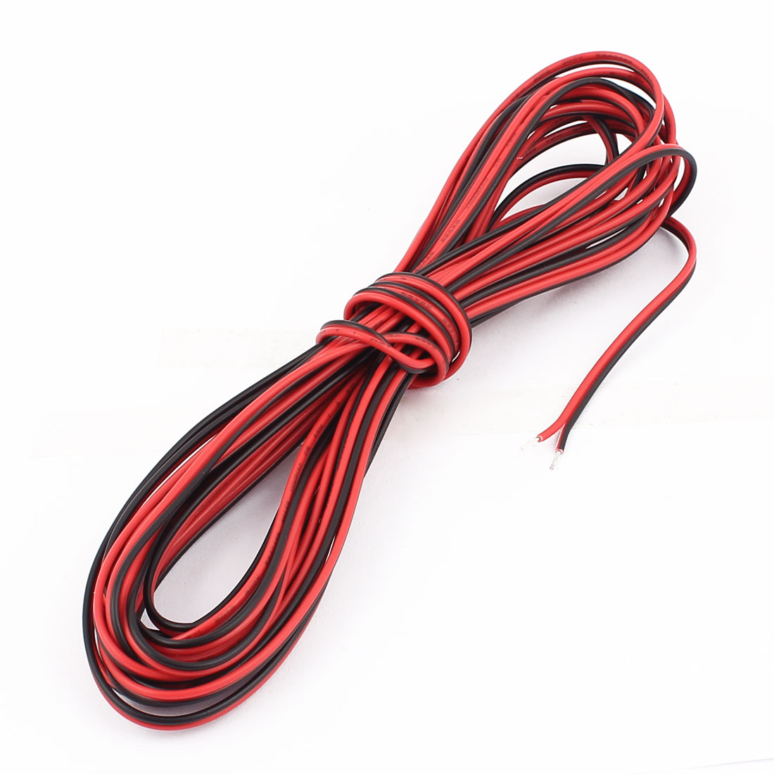 22AWG Indoor Outdoor PVC Insulated Electrical Wire Cable Black Red 6 Meters