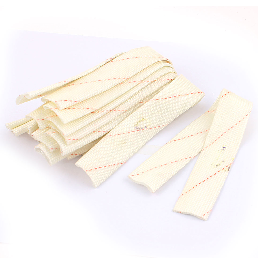 12 Pcs 20mm Electrical Wire Fiberglass Insulation Sleeving 30cm